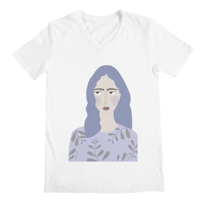 Girl Men's Regular V-Neck by ivvch's Artist Shop