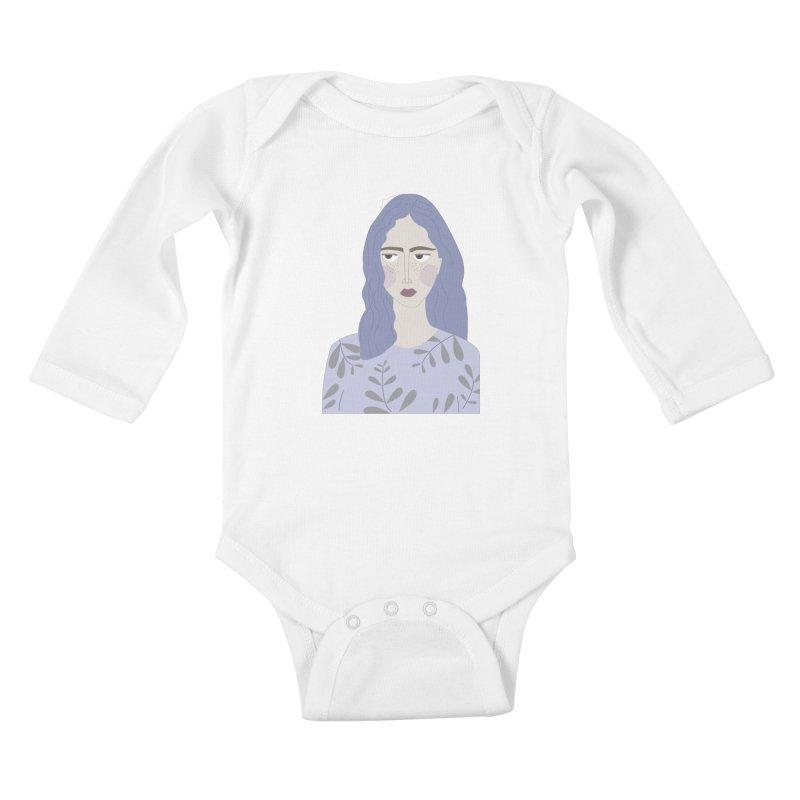 Girl Kids Baby Longsleeve Bodysuit by ivvch's Artist Shop