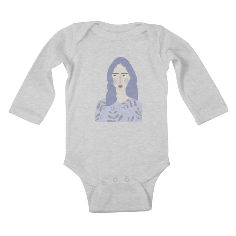 Girl Kids Baby Longsleeve Bodysuit by ivvch's Artist Shop