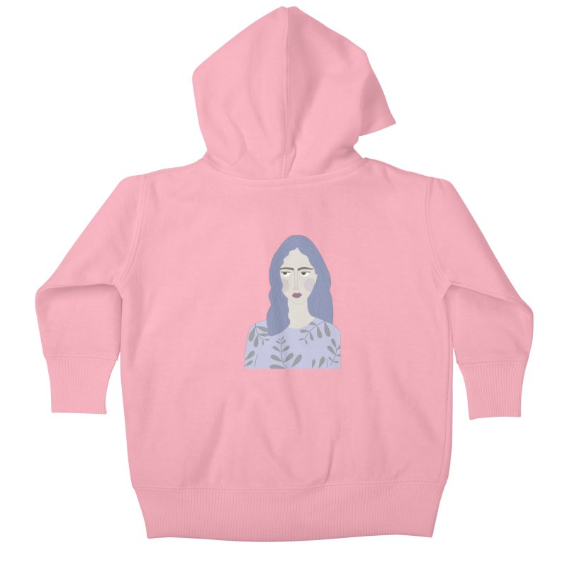 Girl Kids Baby Zip-Up Hoody by ivvch's Artist Shop