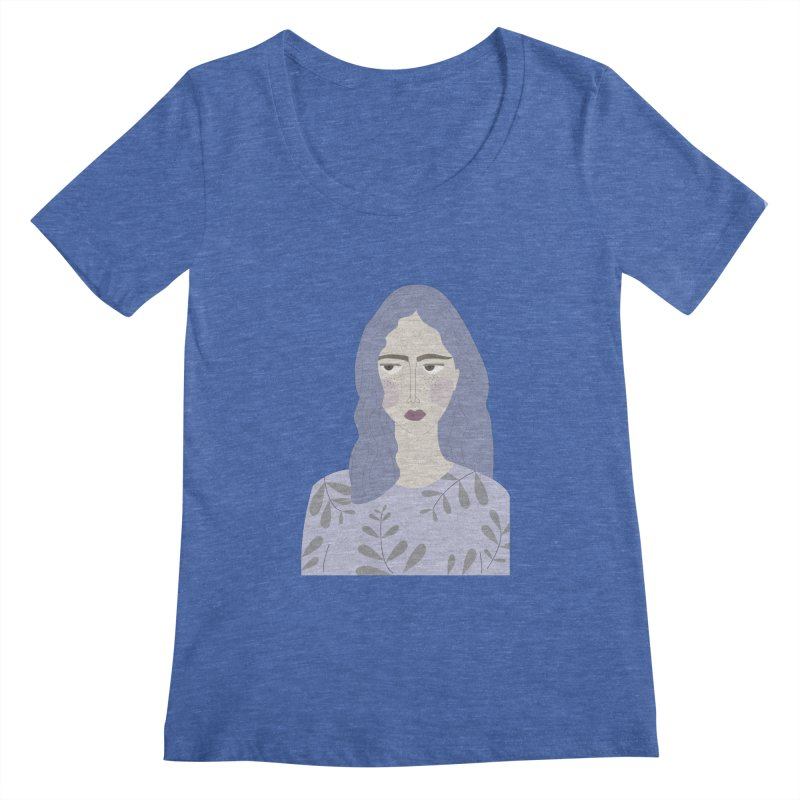 Girl Women's Scoopneck by ivvch's Artist Shop