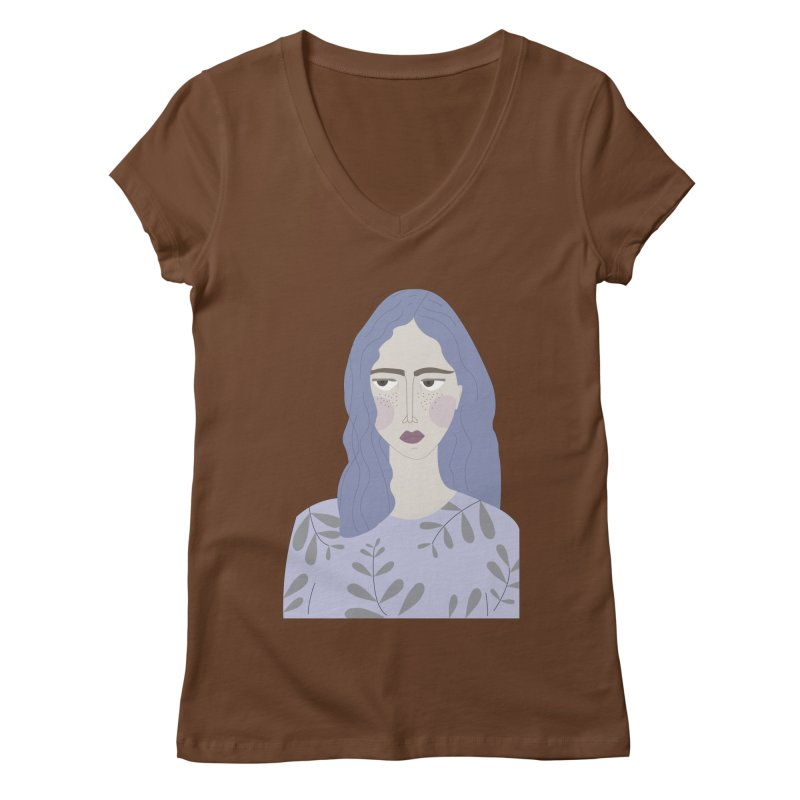 Girl Women's Regular V-Neck by ivvch's Artist Shop