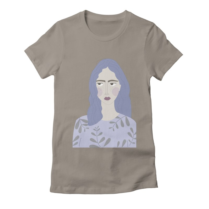 Girl Women's Fitted T-Shirt by ivvch's Artist Shop