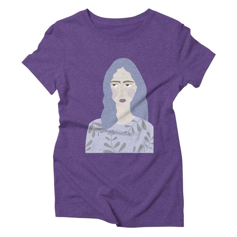 Girl Women's Triblend T-Shirt by ivvch's Artist Shop
