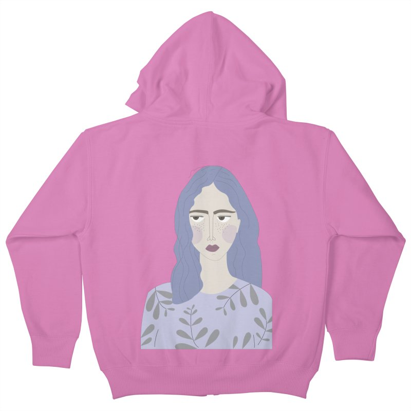 Girl Kids Zip-Up Hoody by ivvch's Artist Shop