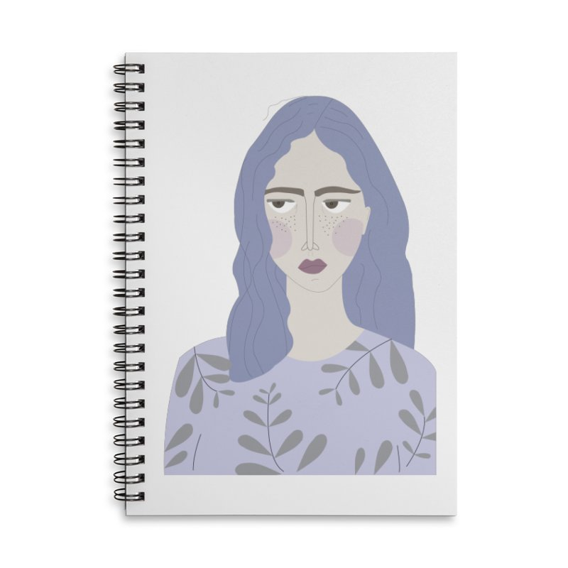 Girl Accessories Lined Spiral Notebook by ivvch's Artist Shop
