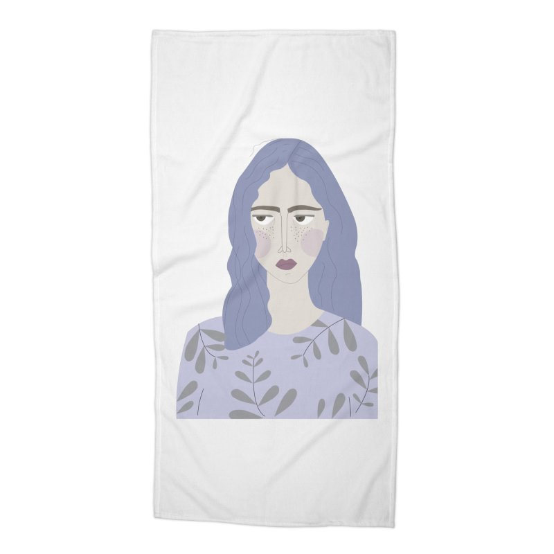 Girl Accessories Beach Towel by ivvch's Artist Shop