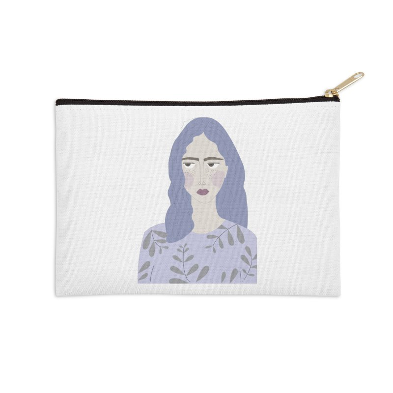 Girl Accessories Zip Pouch by ivvch's Artist Shop