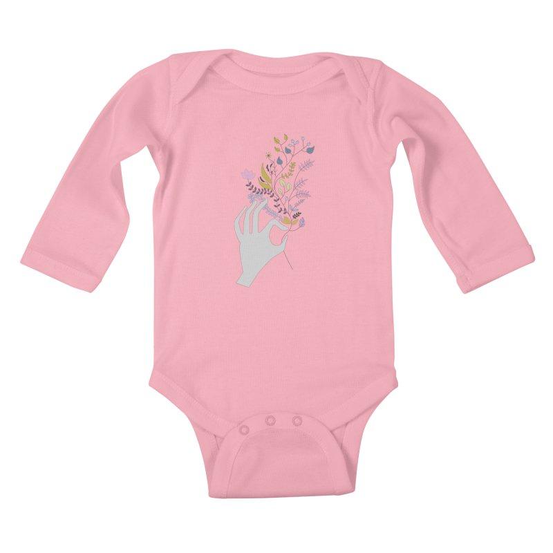 Spring Kids Baby Longsleeve Bodysuit by ivvch's Artist Shop