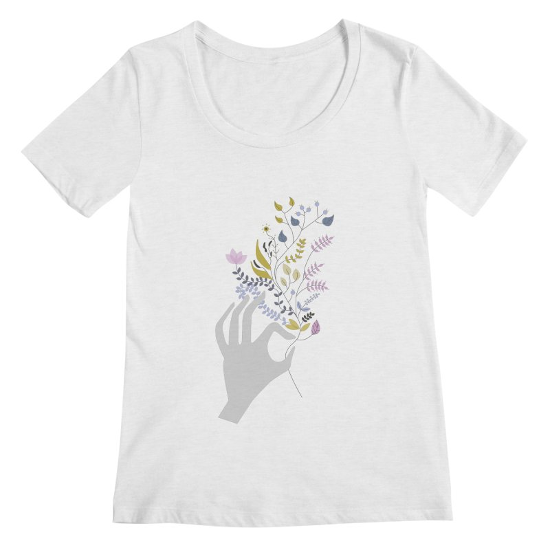 Spring Women's Regular Scoop Neck by ivvch's Artist Shop