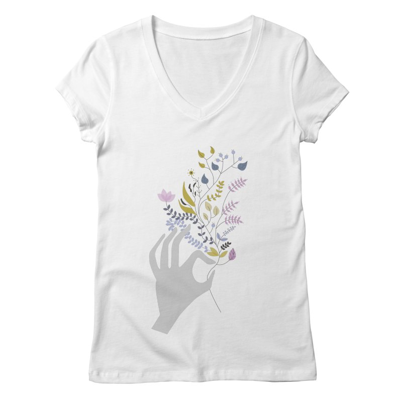 Spring Women's Regular V-Neck by ivvch's Artist Shop