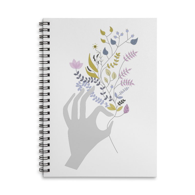 Spring Accessories Lined Spiral Notebook by ivvch's Artist Shop