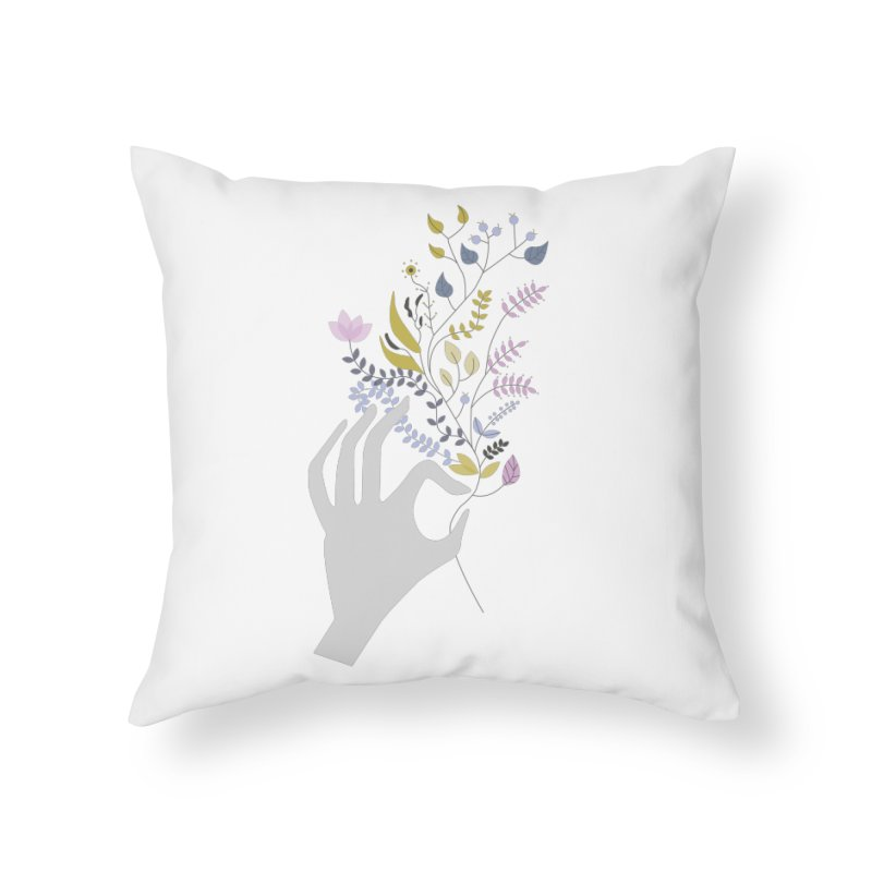 Spring Home Throw Pillow by ivvch's Artist Shop