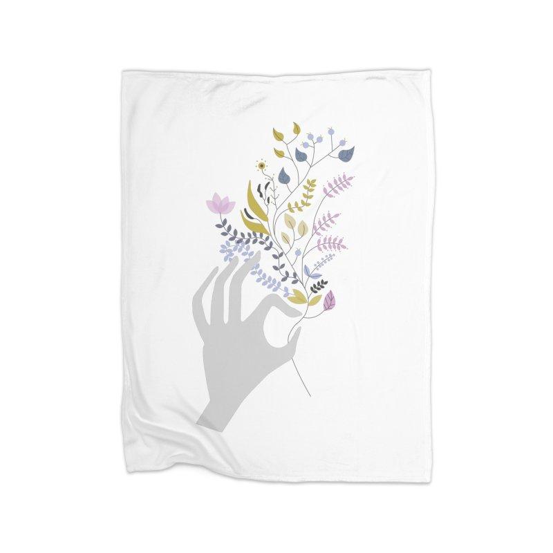 Spring Home Fleece Blanket Blanket by ivvch's Artist Shop