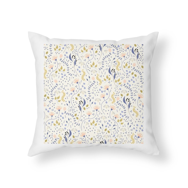 Floral Pattern Home Throw Pillow by ivvch's Artist Shop
