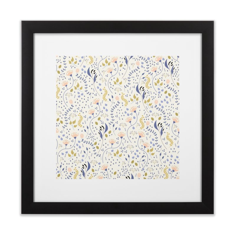 Floral Pattern Home Framed Fine Art Print by ivvch's Artist Shop