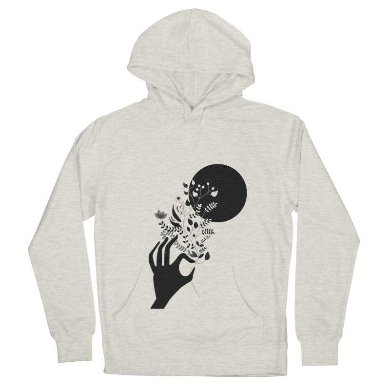 Moon Women's French Terry Pullover Hoody by ivvch's Artist Shop