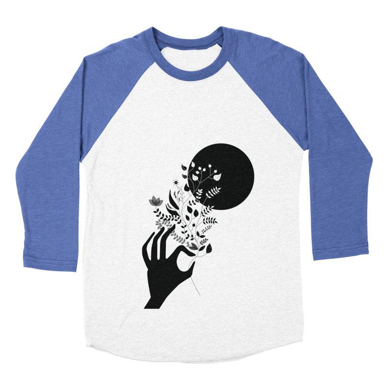 Moon Women's Baseball Triblend T-Shirt by ivvch's Artist Shop