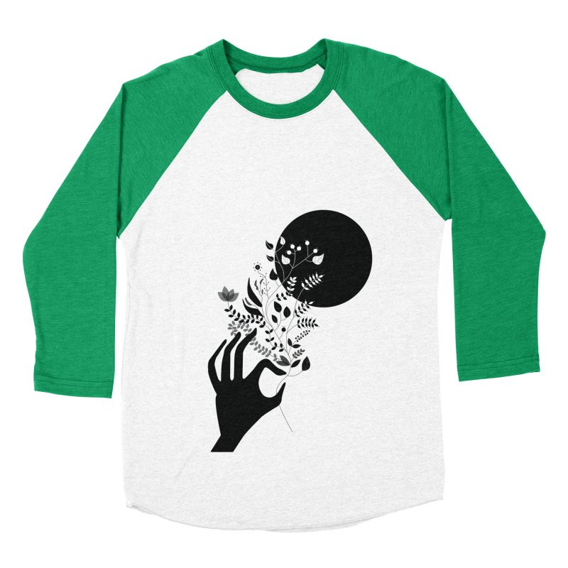 Moon Women's Baseball Triblend Longsleeve T-Shirt by ivvch's Artist Shop