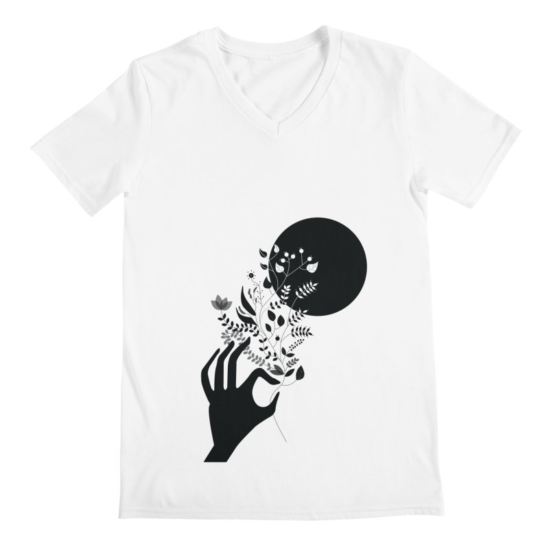 Moon Men's Regular V-Neck by ivvch's Artist Shop