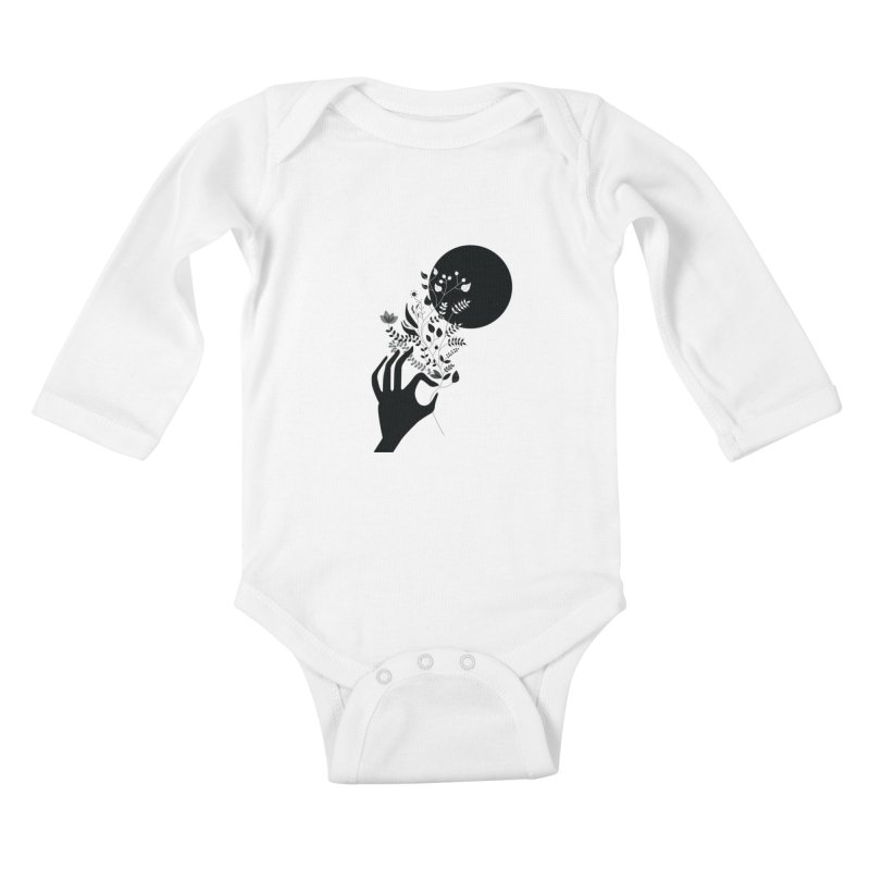 Moon Kids Baby Longsleeve Bodysuit by ivvch's Artist Shop