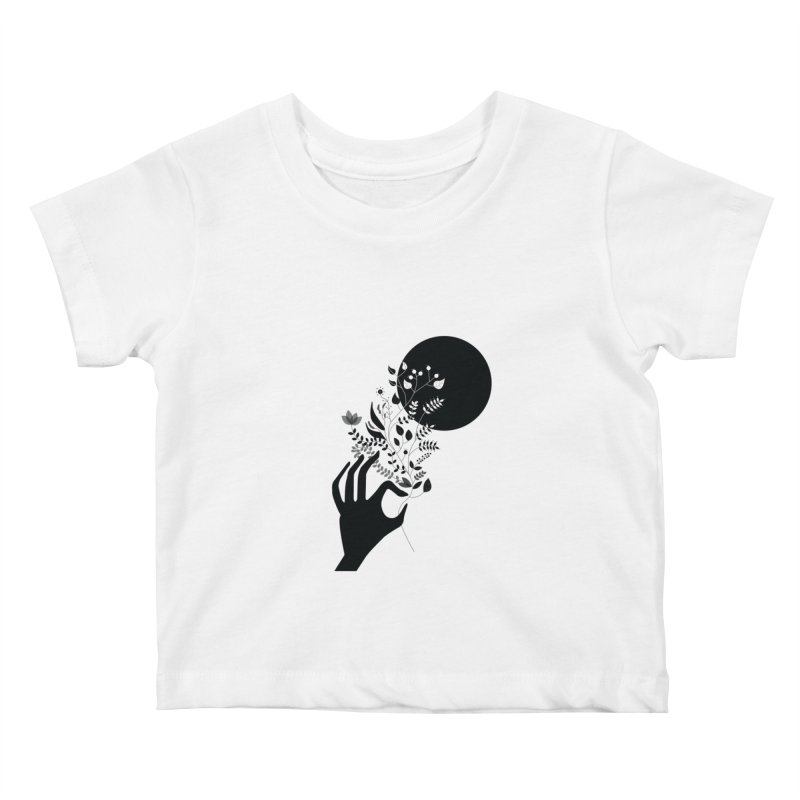 Moon Kids Baby T-Shirt by ivvch's Artist Shop