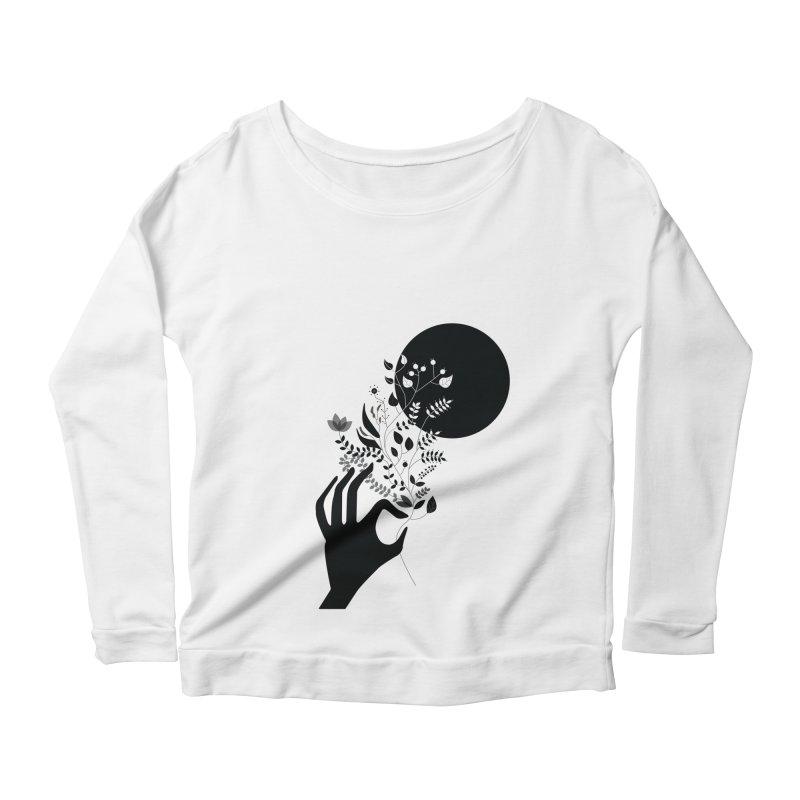 Moon Women's Longsleeve Scoopneck  by ivvch's Artist Shop