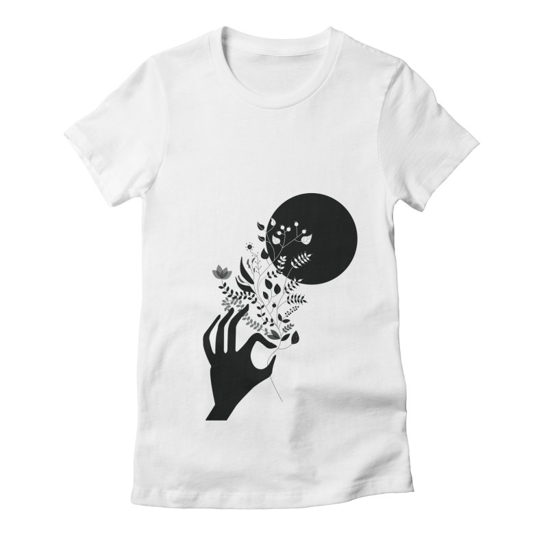 Moon Women's Fitted T-Shirt by ivvch's Artist Shop