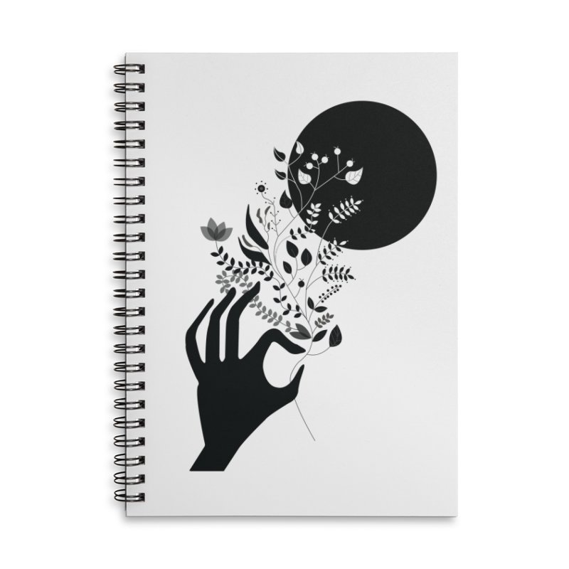 Moon Accessories Lined Spiral Notebook by ivvch's Artist Shop