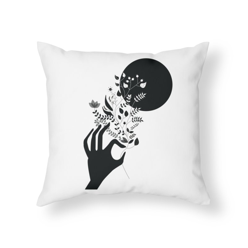 Moon Home Throw Pillow by ivvch's Artist Shop