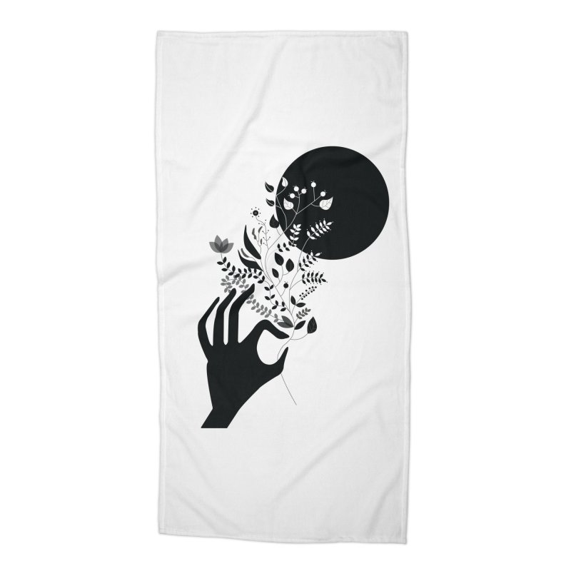 Moon Accessories Beach Towel by ivvch's Artist Shop