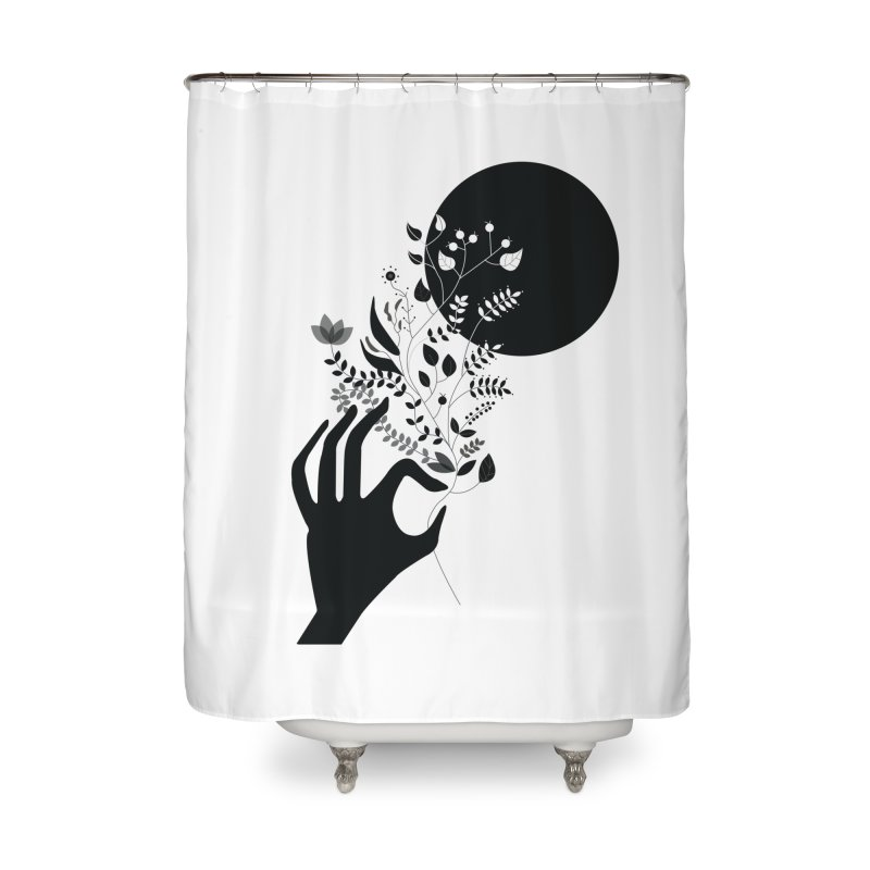 Moon Home Shower Curtain by ivvch's Artist Shop