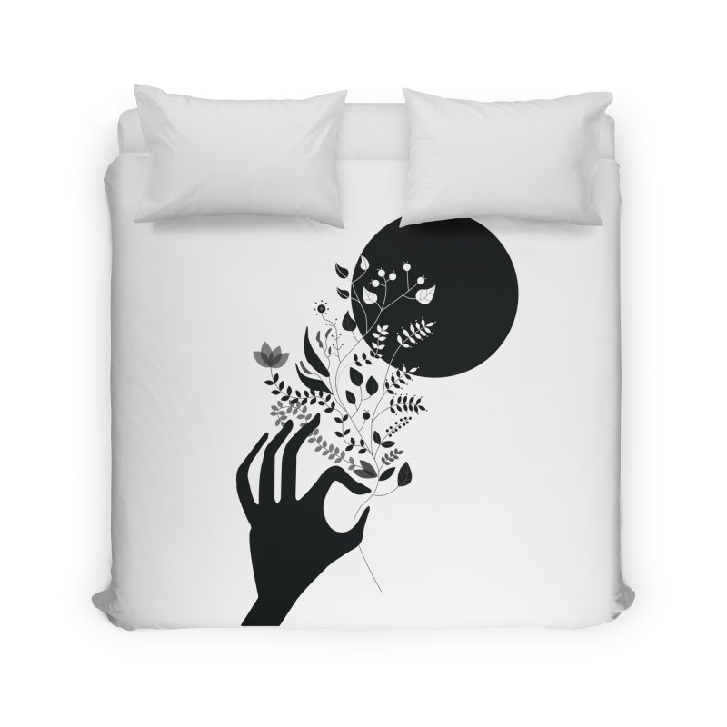 Moon Home Duvet by ivvch's Artist Shop