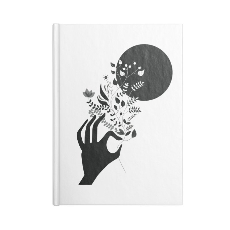 Moon Accessories Blank Journal Notebook by ivvch's Artist Shop