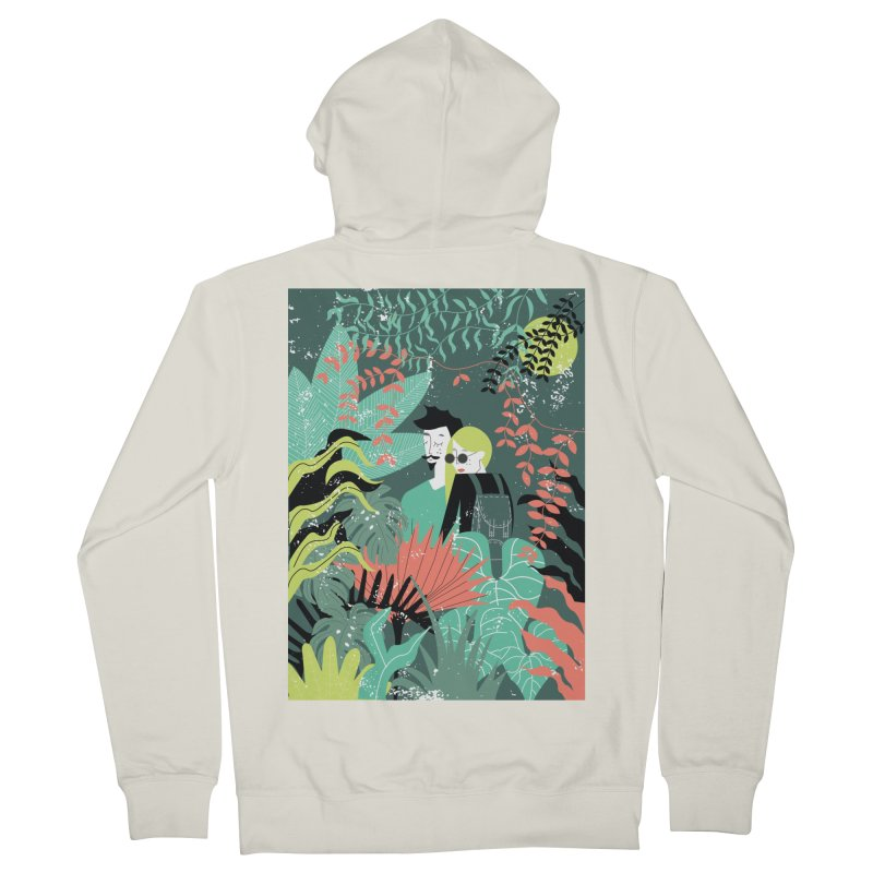 Jungle Women's French Terry Zip-Up Hoody by ivvch's Artist Shop