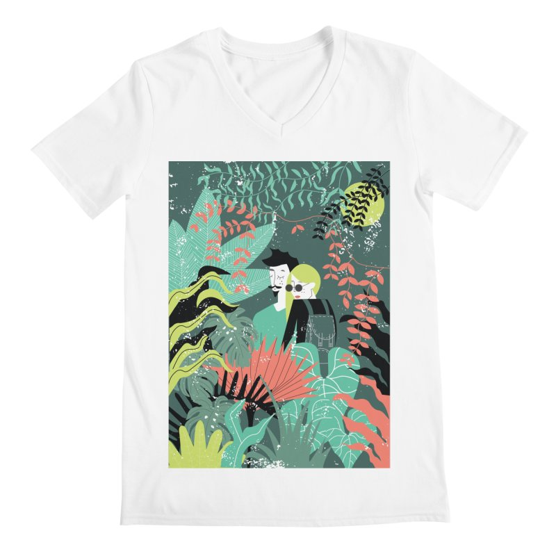Jungle Men's Regular V-Neck by ivvch's Artist Shop