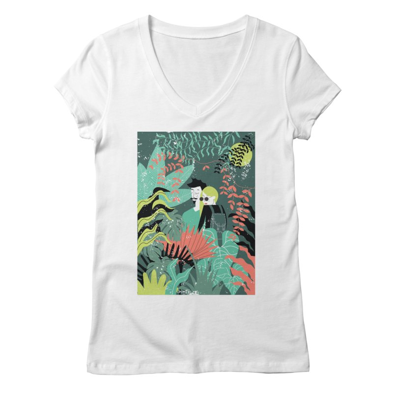 Jungle Women's Regular V-Neck by ivvch's Artist Shop