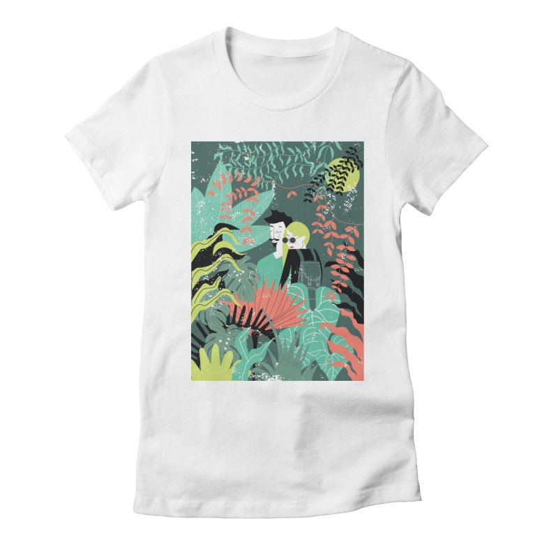 Jungle Women's Fitted T-Shirt by ivvch's Artist Shop