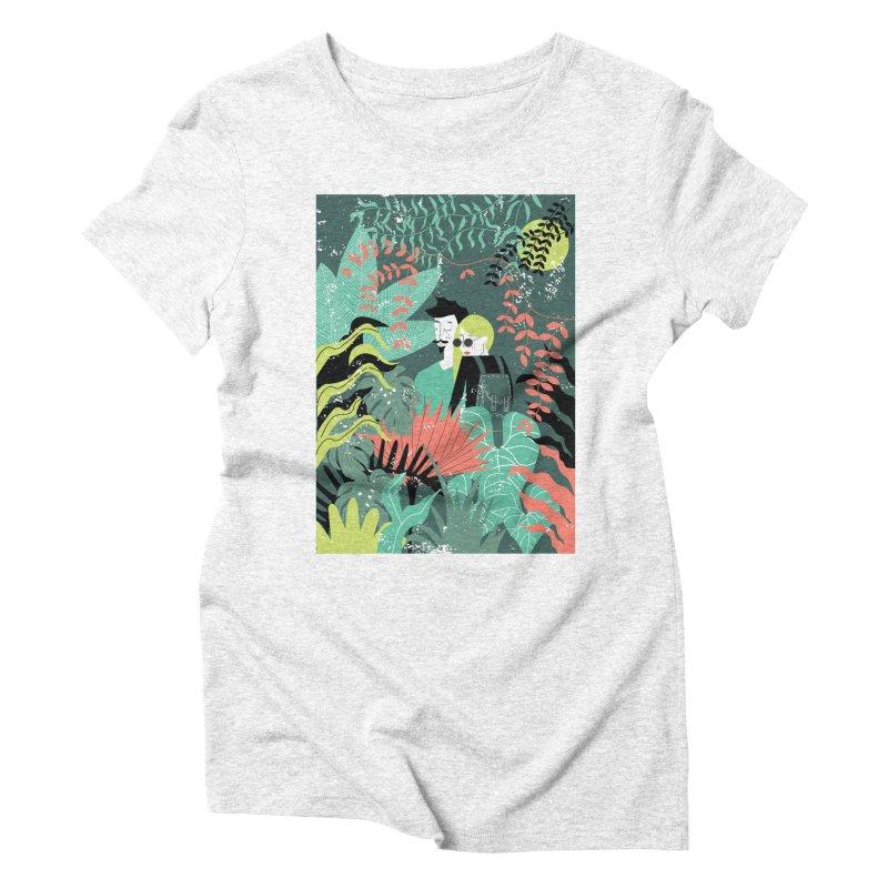 Jungle Women's Triblend T-shirt by ivvch's Artist Shop