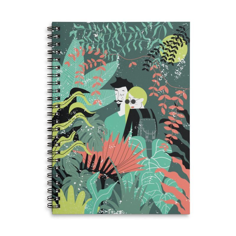 Jungle Accessories Lined Spiral Notebook by ivvch's Artist Shop