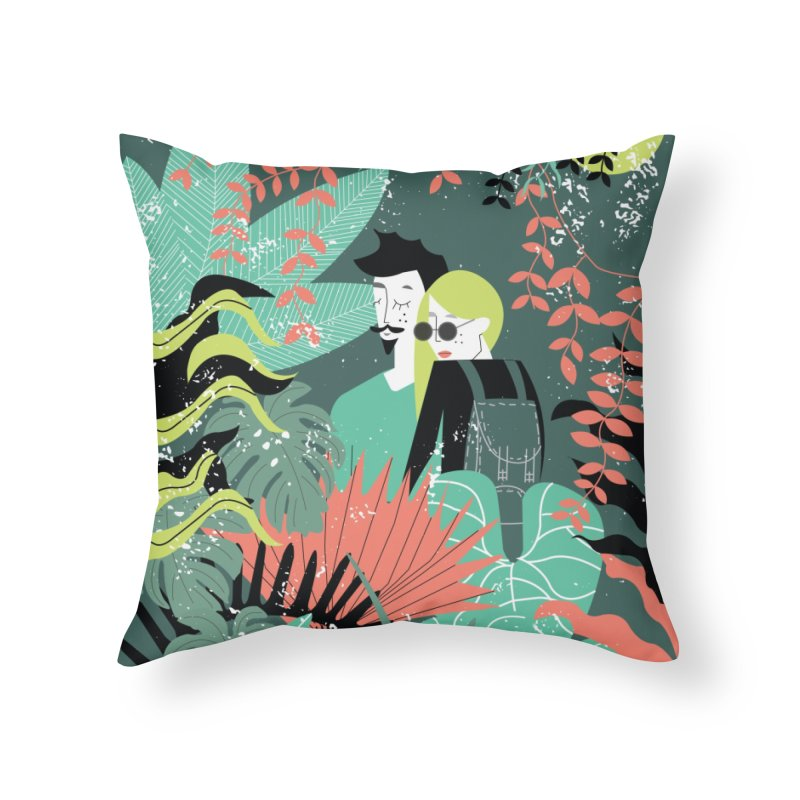 Jungle Home Throw Pillow by ivvch's Artist Shop