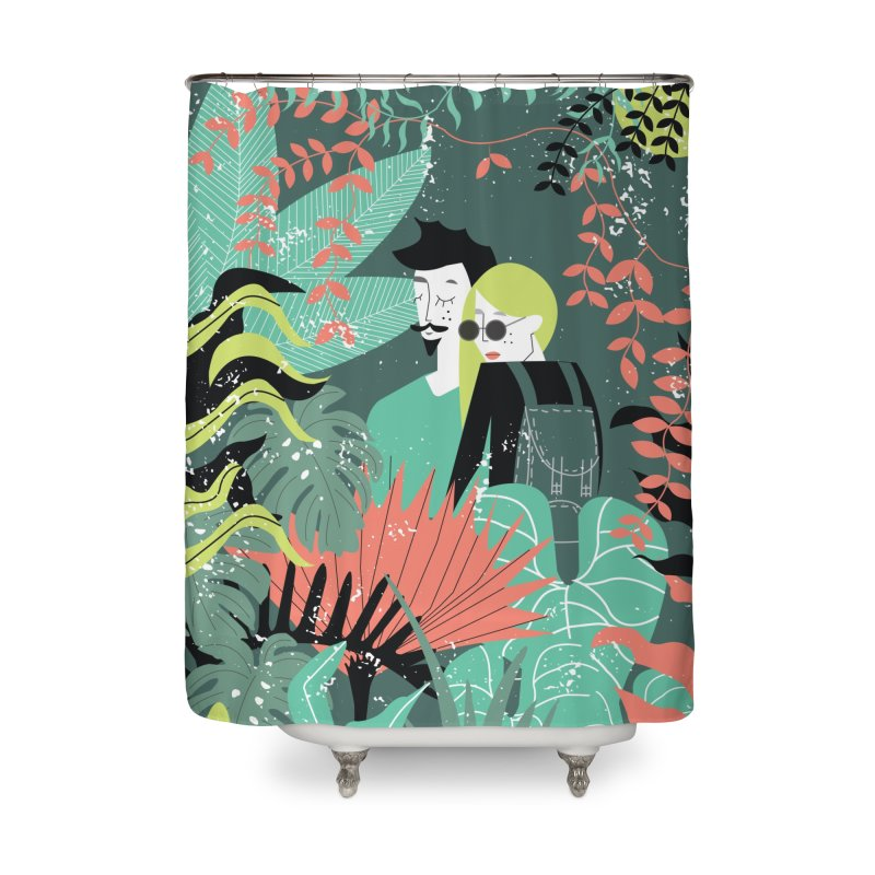 Jungle Home Shower Curtain by ivvch's Artist Shop
