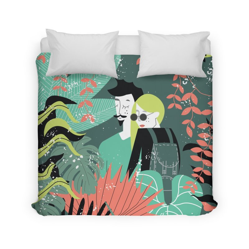 Jungle Home Duvet by ivvch's Artist Shop