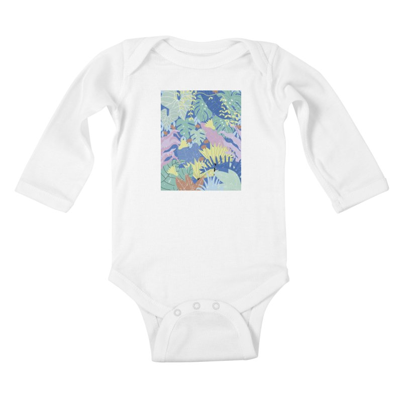 Jungle II Kids Baby Longsleeve Bodysuit by ivvch's Artist Shop