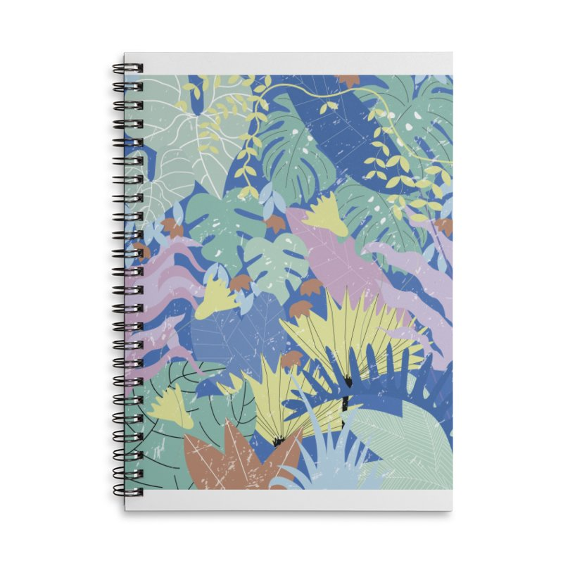 Jungle II Accessories Lined Spiral Notebook by ivvch's Artist Shop