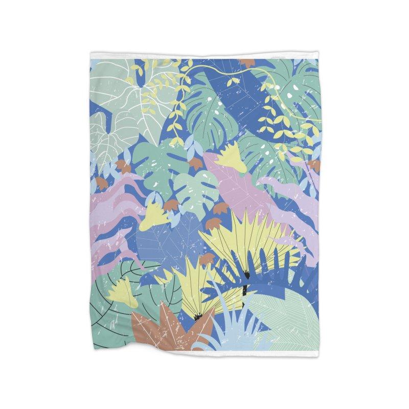 Jungle II Home Fleece Blanket Blanket by ivvch's Artist Shop