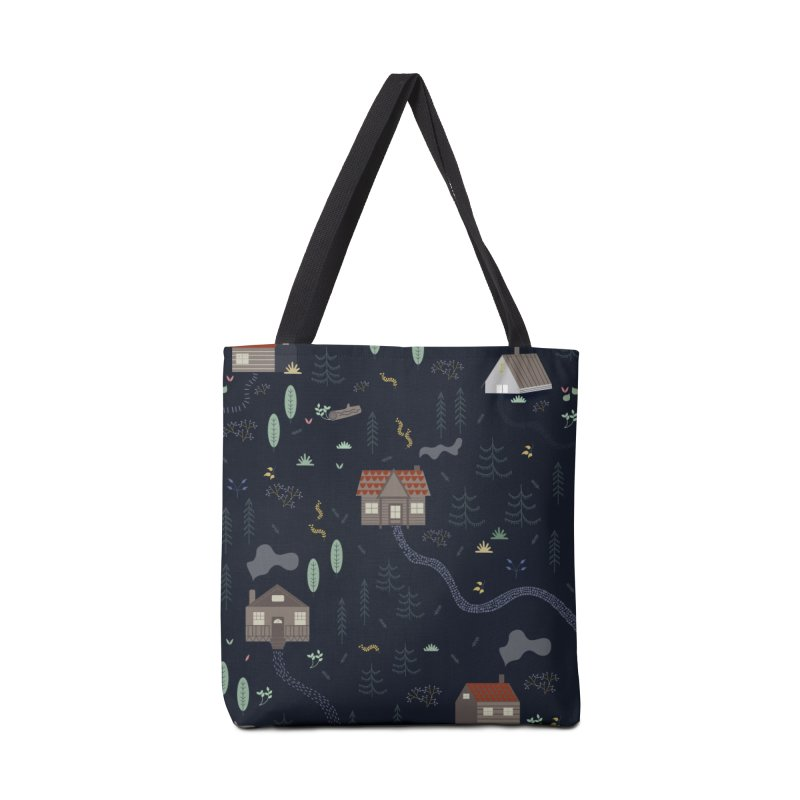 Mountain SUmmer NIght Accessories Tote Bag Bag by ivvch's Artist Shop