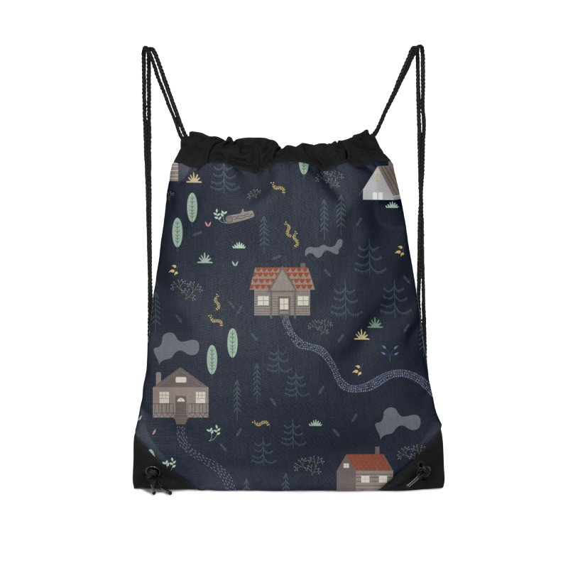Mountain SUmmer NIght Accessories Drawstring Bag Bag by ivvch's Artist Shop