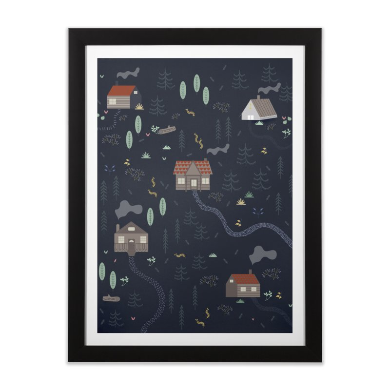 Mountain SUmmer NIght Home Framed Fine Art Print by ivvch's Artist Shop
