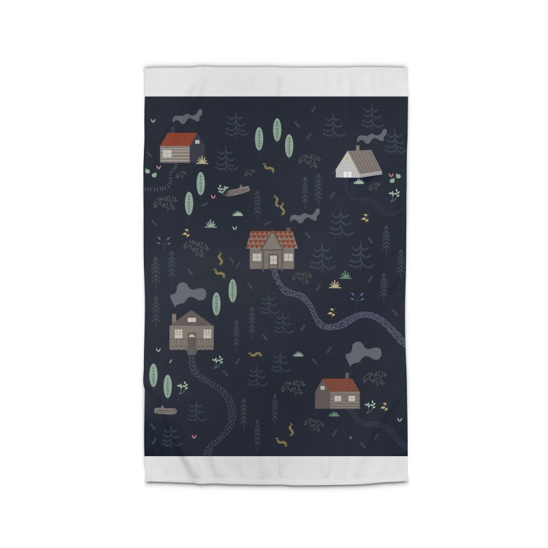 Mountain SUmmer NIght Home Rug by ivvch's Artist Shop